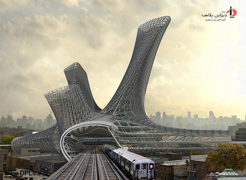 7 14041G92209 - پیش طرح برج alloy tower مرکز حمل و نقل در نیویورک