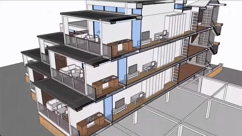 Apartment Building With SketchUp Tutorial - آموزش رایگان و کامل Scketchup به زبان فارسی