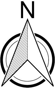 North Element www.dpls .ir 41 - دانلود ۵۰ مدل علامت شمال png برای استفاده در شیت بندی