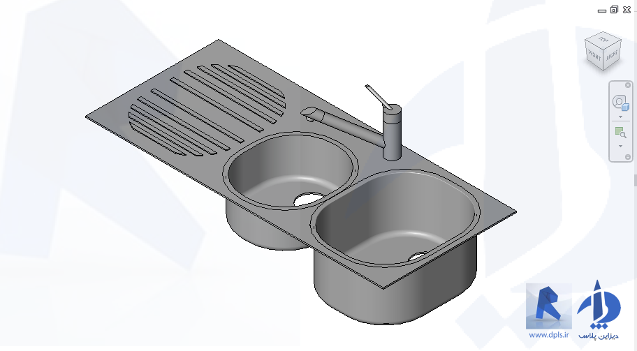 Sink Kitchen Medium 2 Basins - دانلود ها