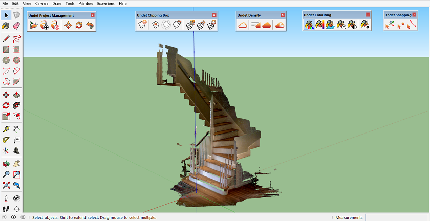 Undet point cloud in SketchUp DotProduct stairs - آموزش رایگان و کامل Scketchup به زبان فارسی