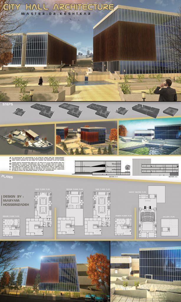 fs - طراحی سه بعدی تالار شهر + شیت (دانشجویی)
