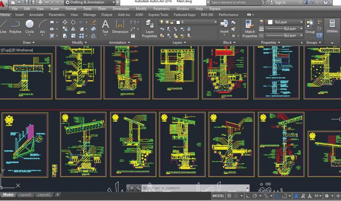 دانلود دیتیل جزئیات معماری ساختمان